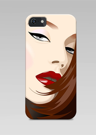 iPhone case - vector girl face illustration