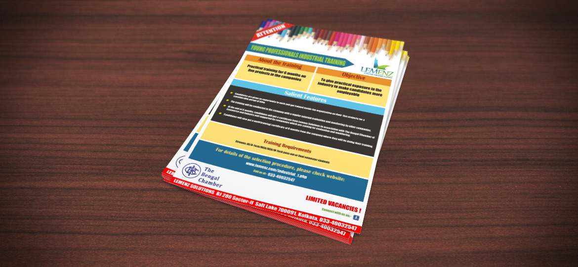 A4 flyer print industrial training company