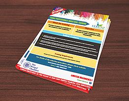 A4 flyer print training company thumbnail