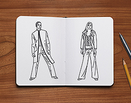 fashion design sketch illustration thumbnail
