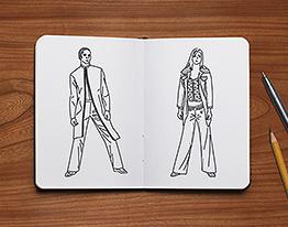 fashion design sketch illustration thumbnail