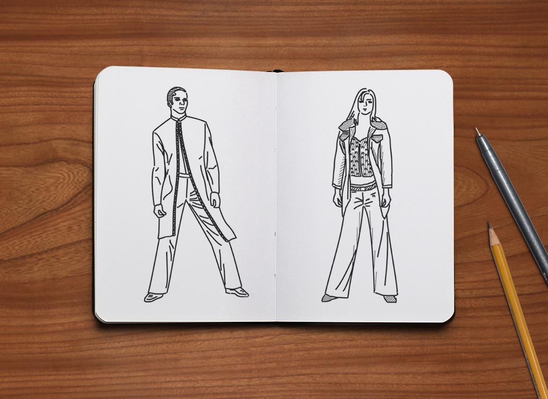 fashion design sketch illustration vector