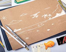 vector sea beach illustration thumbnail